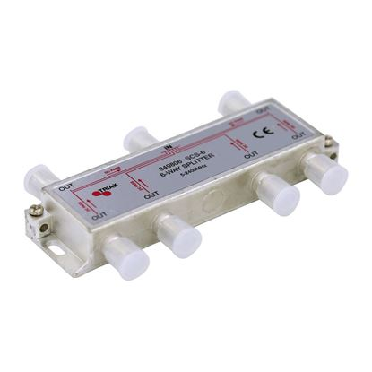 Picture of TRIAX RF 6-Way Splitter 5-2400MHz. All ports power pass - diode