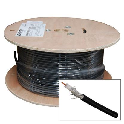 Picture of DYNAMIX 100m Roll RG6 Shielded Cable. Black. 75ohm. 16AWG solid