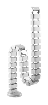 Picture of BRATECK Deluxe Cable Management Spine. SILVER Colour.
