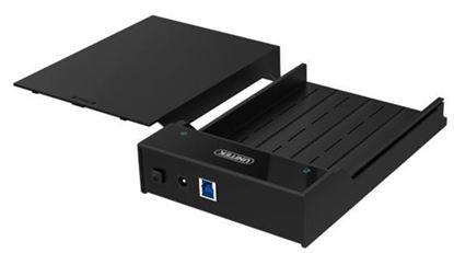 "Picture of UNITEK USB3.0 SATA HDD enclosure. Supports 3.5""/2.5"" SATA HDD."