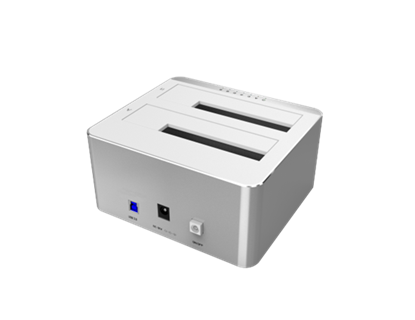 Picture of UNITEK USB3.0 to Dual SATA HDD Aluminium Docking Station with