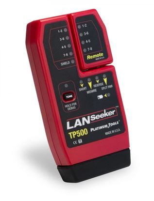 Picture of PLATINUM TOOLS LANSeeker Cable Tester & Tone Generator. Identify
