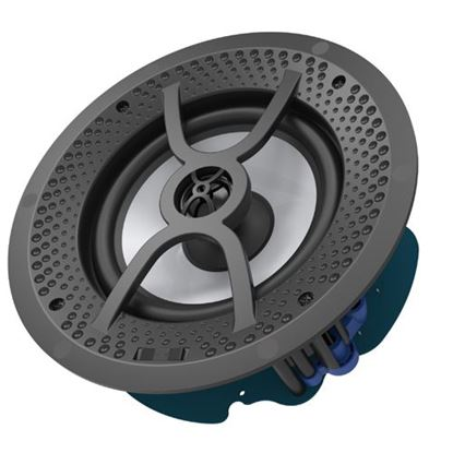 "Picture of LUMI AUDIO 6"" 2-Way Frameless Recessed Ceiling Speaker. 60W RMS,"