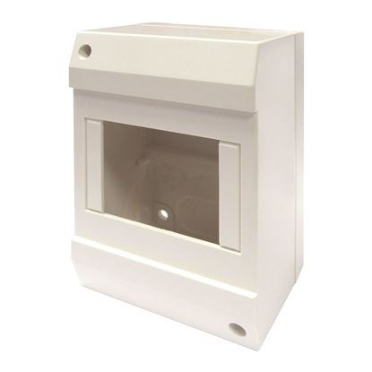 Picture of TRADESAVE Surface DIN Rail Enclosure, 4 Pole. Moulded Base