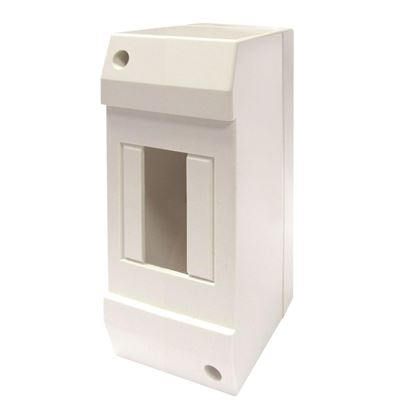 Picture of TRADESAVE Surface DIN Rail Enclosure, 2 Pole. Moulded Base
