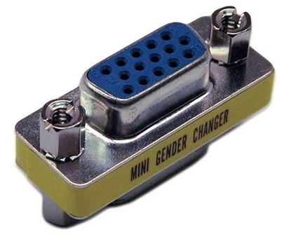 Picture of DYNAMIX HD DB15 VGA Female/Female Mini Gender Changer