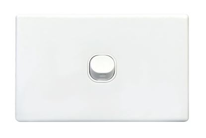 Picture of TRADESAVE Slim Switch Plate ONLY. 1 Gang. Accepts all Tradesave