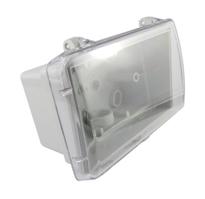 Picture of TRADESAVE Weatherproof Box. Suits Standard Swtich Plates. Grey Heavy