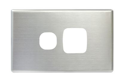 Picture of TRADESAVE Slim 10A Horizontal 1 Gang Switch. Removable Cover.