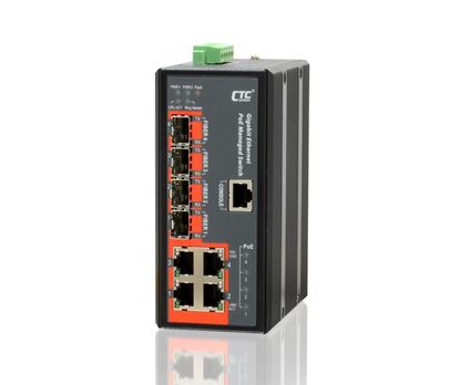 Picture of CTC UNION 4 Port Gigabit Managed PoE Switch. 4x 10/100/1000Base-T(X)