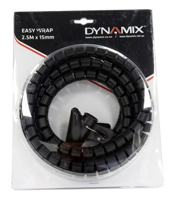 Picture of DYNAMIX 2.5mx15mm Easy Wrap - Cable Management Solution, Blister