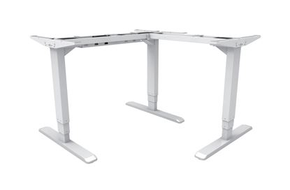 Picture of BRATECK L-Shape Electric Sit-Stand Desk Frame with 3 Stage Reverse