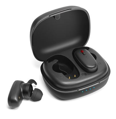 Picture of PROMATE Wireless Earbuds with 470mAh Portable Charging Case.