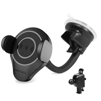 Picture of PROMATE Qi Ultra-Fast Wireless Car Charging Mount. Clamps on to Any