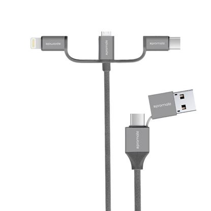 Picture of PROMATE All-in-one Multifunctional Universal Sync & Charge Cable with