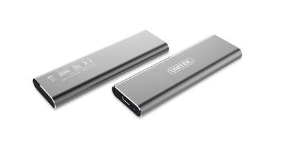 Picture of UNITEK USB 3.1 Gen2 USB-C to M.2 SSD (PCIe/NVMe) Enclosure.