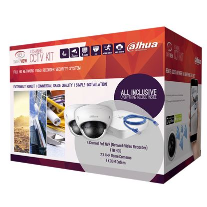 Picture of SMARTVIEW 4 Channel IP Surveillance Kit. Includes 1x Smart 4 Port POE