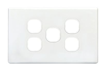 Picture of TRADESAVE Slim Switch Plate ONLY. 5 Gang. Accepts all Tradesave