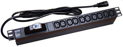 Picture of DYNAMIX Power Rail - Horizontal 10 Position 10A, IEC (IEC320-