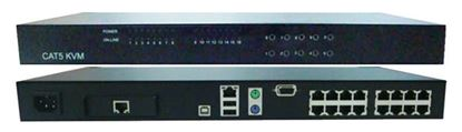 Picture of REXTRON 16 Port Cat5e KVM Switch Requires USB or PS2 Dongles up to