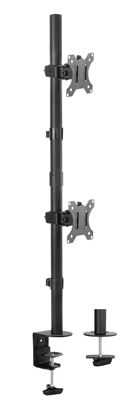 Picture of BRATECK 13'-32' Dual Vertical Monitor Mount. Rotate, Tilt and