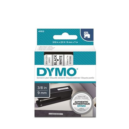 Picture of DYMO Genuine D1 Label Cassette Tape 9mm x 7m BLACK ON WHITE