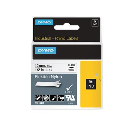 Picture of DYMO Genuine Rhino Industrial Flexible Nylon Labels. 12mm x 3.5m.