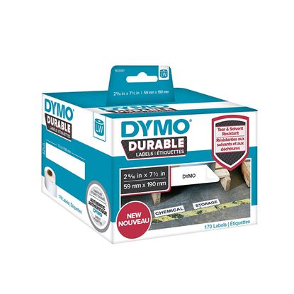 Picture of DYMO Genuine Durable LabelWriter Labels, 59mm x 190mm White Poly,