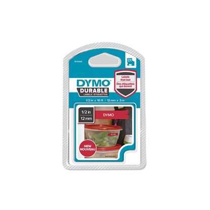 Picture of DYMO Genuine D1 Extra-Strength Durable Labels. 12mm x 3m White
