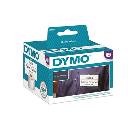 Picture of DYMO Genuine LabelWriter Name Badge Cards, 62mm x 106mm Non Adhesive,