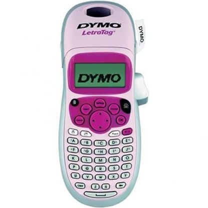 Picture of DYMO LetraTag 100H Handheld Label Maker, Pink, with 13-character LCD
