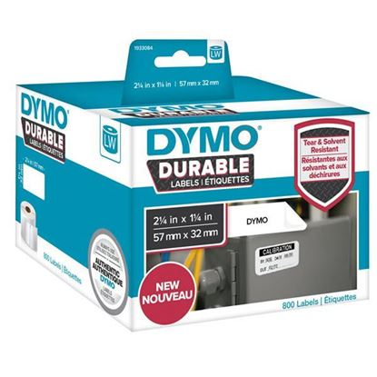 Picture of DYMO Genuine Durable LabelWriter Labels, 57mm x 32mm White Poly,
