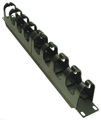 Picture of DYNAMIX 19' Cable Management Bar. Supplied with Cage Nuts.