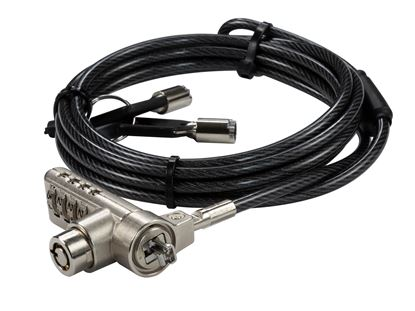 Picture of DYNAMIX 2m Locking Security Cable for use with Kensington
