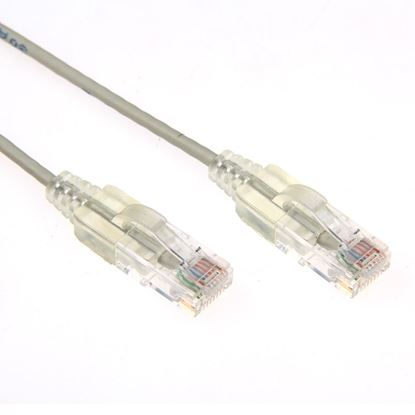 Picture of DYNAMIX 0.25m Cat6A 10G Grey Slimline Component Level UTP