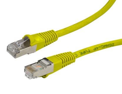 Picture of DYNAMIX 0.5m Cat6A Yellow SFTP 10G Patch Lead. (Cat6 Augmented) 500MHz