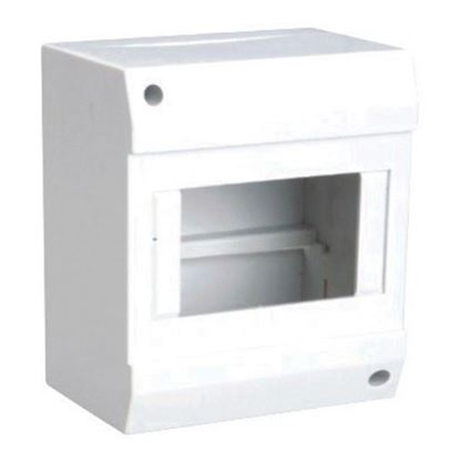Picture of TRADESAVE Surface Mounted DIN Rail Enclosure, 8 pole, Moulded base
