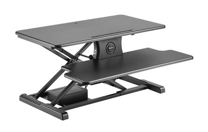 Picture of BRATECK Electric Scissor Lift Desktop Sit-Stand Workstation.