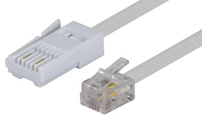 Picture of DYNAMIX 5m BT to RJ11 Cable (For Modem to Phone Line Connection)