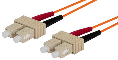Picture of DYNAMIX 0.5M 62.5u SC/SC OM1 Fibre Lead (Duplex, Multimode)
