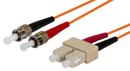 Picture of DYNAMIX 2M 62.5u SC/ST OM1 Fibre Lead (Duplex, Multimode)