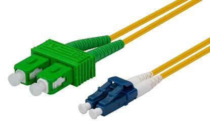 Picture of DYNAMIX 1M SCAPC/LC Single mode G657A1 Duplex Fibre Lead LSZH