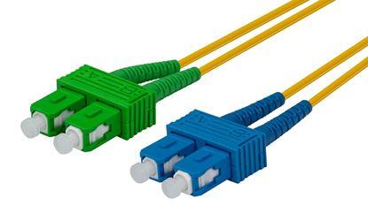 Picture of DYNAMIX 5M SCAPC/SC SIngle mode G657A1 Duplex Fibre Lead LSZH