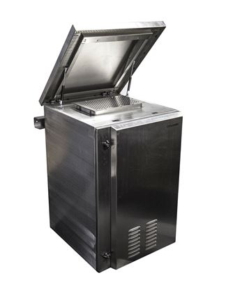 Picture of DYNAMIX 18RU Stainless Vented Outdoor Wall Mount Cabinet (610 x