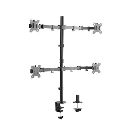 Picture of BRATECK 17'-32' Quad Monitor Desk Mount. Rotate, Tilt and Swivel.