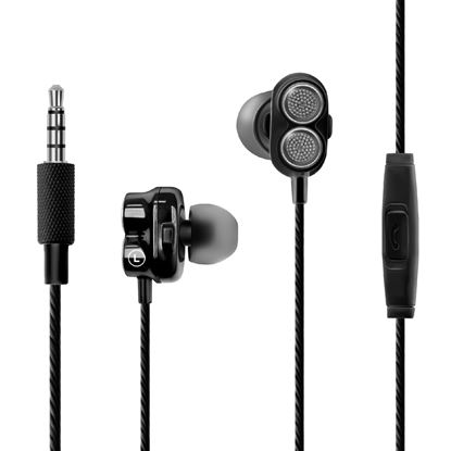 Picture of PROMATE Super Bass Dual Drive In-Ear Stereo Earphones. In-line