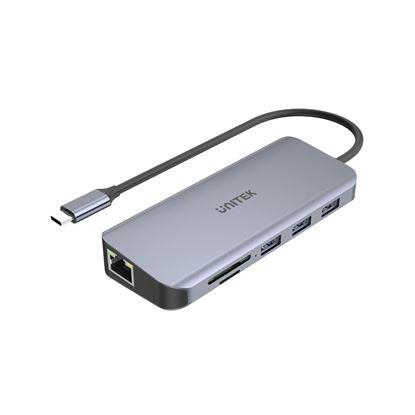 Picture of UNITEK 9-in-1 USB 3.1 Mulit-Port Hub with USB-C Connector.