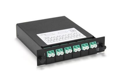 Picture of DYNAMIX MTP OS1 6 Port LC Duplex Single-mode Fibre Cassette.