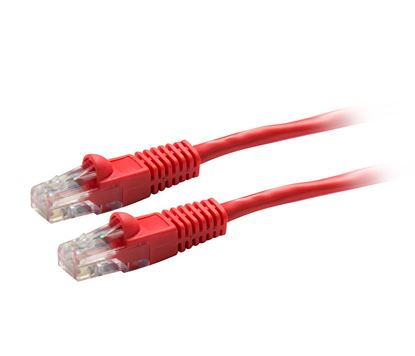 Picture of DYNAMIX 1m Cat5e Red UTP Patch Lead (T568A Specification)
