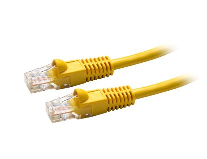 Picture of DYNAMIX 0.3m Cat5e Yellow UTP Patch Lead (T568A Specification)